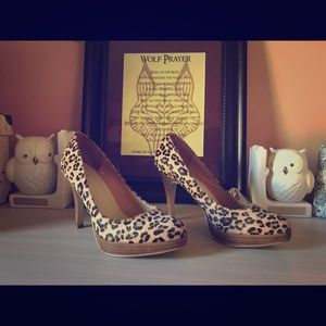 Bakers leopard print Size 8 heels